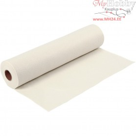 Craft Felt, W: 45 cm, thickness 1,5 mm, off-white, 5m, 180-200 g/m2