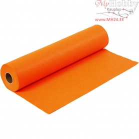 Craft Felt, W: 45 cm, thickness 1,5 mm, orange, 5m, 180-200 g/m2