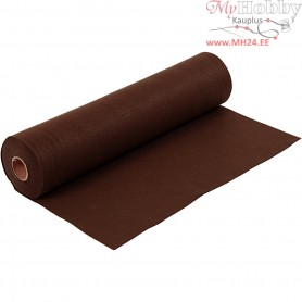 Craft Felt, W: 45 cm, thickness 1,5 mm, brown, 5m, 180-200 g/m2