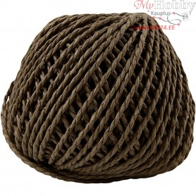 Paper Yarn, thickness 2,5-3 mm, approx. 42 m, dark brown, 150g