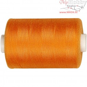 Sewing Thread, orange, polyester, 1000m
