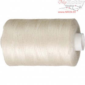 Sewing Thread, off-white, polyester, 1000m