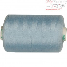 Sewing Thread, light blue, polyester, 1000m
