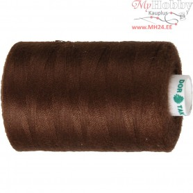 Sewing Thread, brown, polyester, 1000m