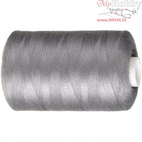 Sewing Thread, grey, polyester, 1000m