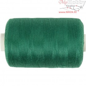 Sewing Thread, green, polyester, 1000m