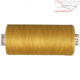 Sewing Thread, golden, cotton, 1000m