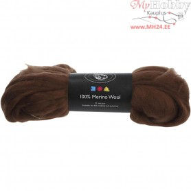 Merino Wool,  21 micron, brown, South Africa, 100g