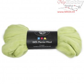 Merino Wool,  21 micron, lime green, South Africa, 100g