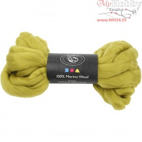 Merino Wool,  21 micron, lemon, South Africa, 100g