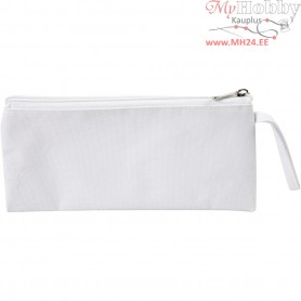 Pencil Case, size 23x11 cm, white, 1pc