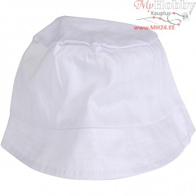 Bucket Hat, size 58 cm, white, 1pc