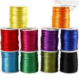 Satin Cord, thickness 2 mm, bold colours, 10x50m