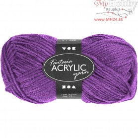Fantasia Acrylic Yarn, L: 80 m, purple, 50g