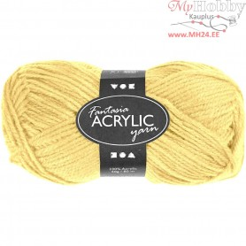 Fantasia Acrylic Yarn, L: 80 m, light yellow, 50g
