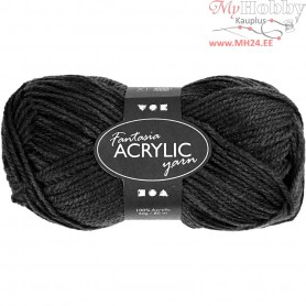 Fantasia Acrylic Yarn, L: 80 m, black, 50g