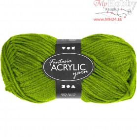 Fantasia Acrylic Yarn, L: 80 m, light green, 50g