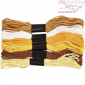 Embroidery Floss, thickness 1 mm, golden harmony, 6bundles