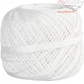 Mercerized Cotton Yarn, white, 20g