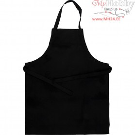 Apron, size 55x70 cm, black, 1pc