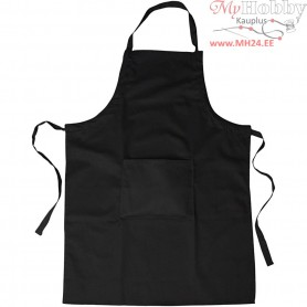 Apron, size 66x89 cm, black, 1pc
