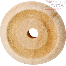 Wheel, D: 24x8 mm, thickness 8 mm, china berry, 40pcs, hole size 3 mm