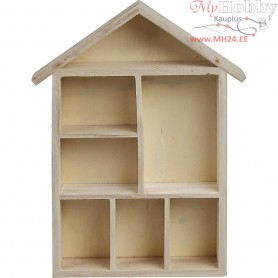 Shelving System, house, size 30x22x3,5 cm, empress wood, 1pc