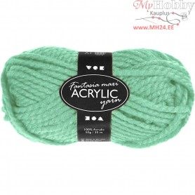 Fantasia Acrylic Yarn, L: 35 m, mint green, Maxi, 50g