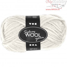 Sydney Yarn, L: 50 m, off-white, 50g