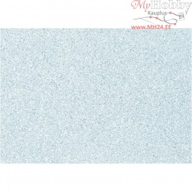 Craft Felt, A4 21x30 cm, thickness 1 mm, light blue, silver glitter sprinkle, 10sheets