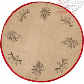 Christmas Tree Skirt, D: 100 cm, christmas decoration, 1pc