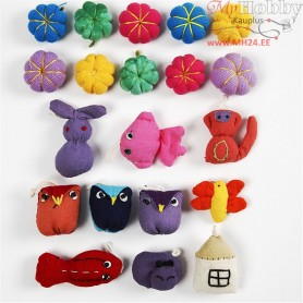 Mini Fabric Animals, size 20-35 mm, 40pcs