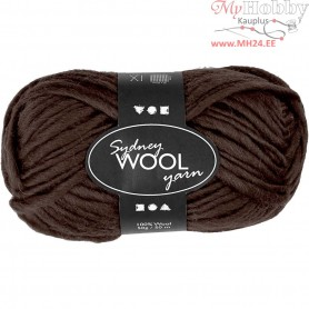 Sydney Yarn, L: 50 m, brown, 50g