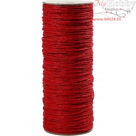 Paper Yarn, thickness 1,8 mm, L: 470 m, red, thin, 250g