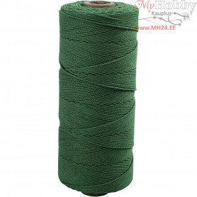 Cotton Twine, L: 315 m, thickness 1 mm, green, Thin quality 12/12, 220g