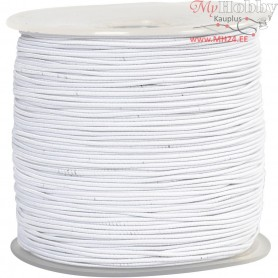 Elastic Beading Cord, thickness 1 mm, white, 250m
