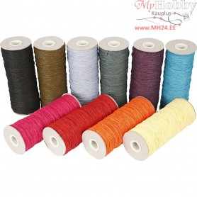 Paper Yarn, thickness 1,8 mm, L: 470 m, bold colours, 10x250g
