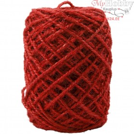 Natural Hemp, thickness 1-2 mm, red, 150m