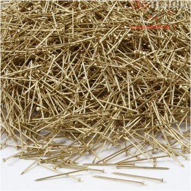 Straight Pins, L: 18 mm, thickness 0,3 mm, gold, 500g