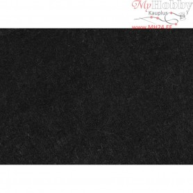 Craft Felt, A4 21x30 cm, thickness 1,5-2 mm, black, textured, 10sheets