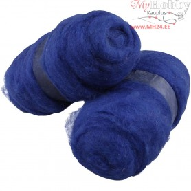 Carded Wool, royal blue, 2x100g
