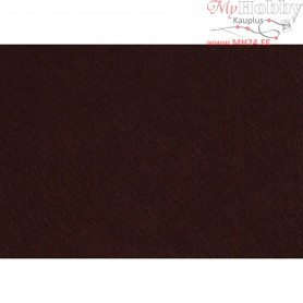 Craft Felt, A4 21x30 cm, thickness 1,5-2 mm, brown, 10sheets