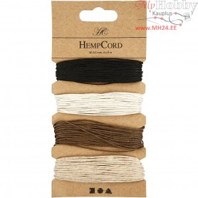 Natural Hemp,  0,5 mm, brown harmony, 4x9m