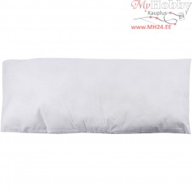 Stuffed Pillow, size 80x40 cm, white, 400 g polyester stuffing, 1pc
