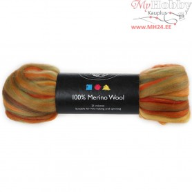 Merino Wool, orange, 50g
