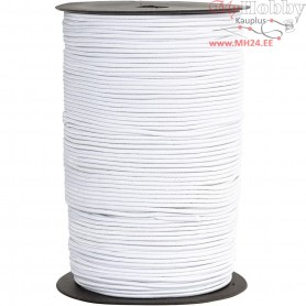 Elastic Beading Cord, thickness 2 mm, white, 250m