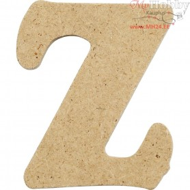Letter, Z, H: 4 cm, thickness 2,5 mm, MDF, 10pcs