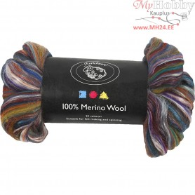 Merino Wool,  21 micron, yellow/green, 50g