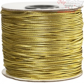 Elastic Beading Cord, thickness 1 mm, gold, 100m