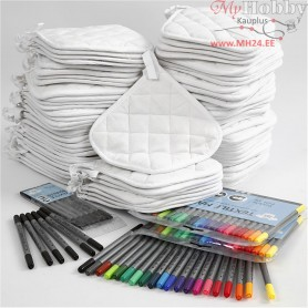 Pot Holders with markers,  80 pc, 1set